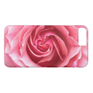Rufen Sie Fall mit nahem hohem Foto der rosa Rose iPhone 8 Plus/7 Plus Hülle