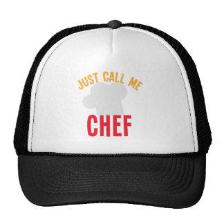 rufen Sie mich einfach Koch an Netz Caps