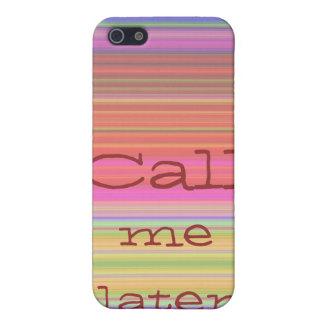 Rufen Sie mich später - Regenbogen-Streifen-Fall Etui Fürs iPhone 5