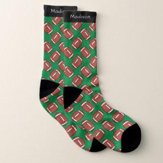 Rugby-/Fußball-Muster-Namesocken Socken