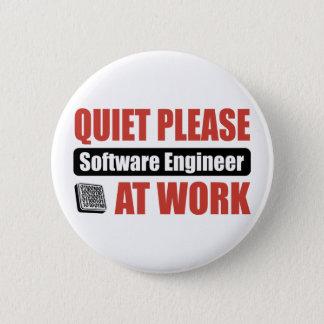 Ruhe-bitte Software Engineer bei der Arbeit Runder Button 5,1 Cm