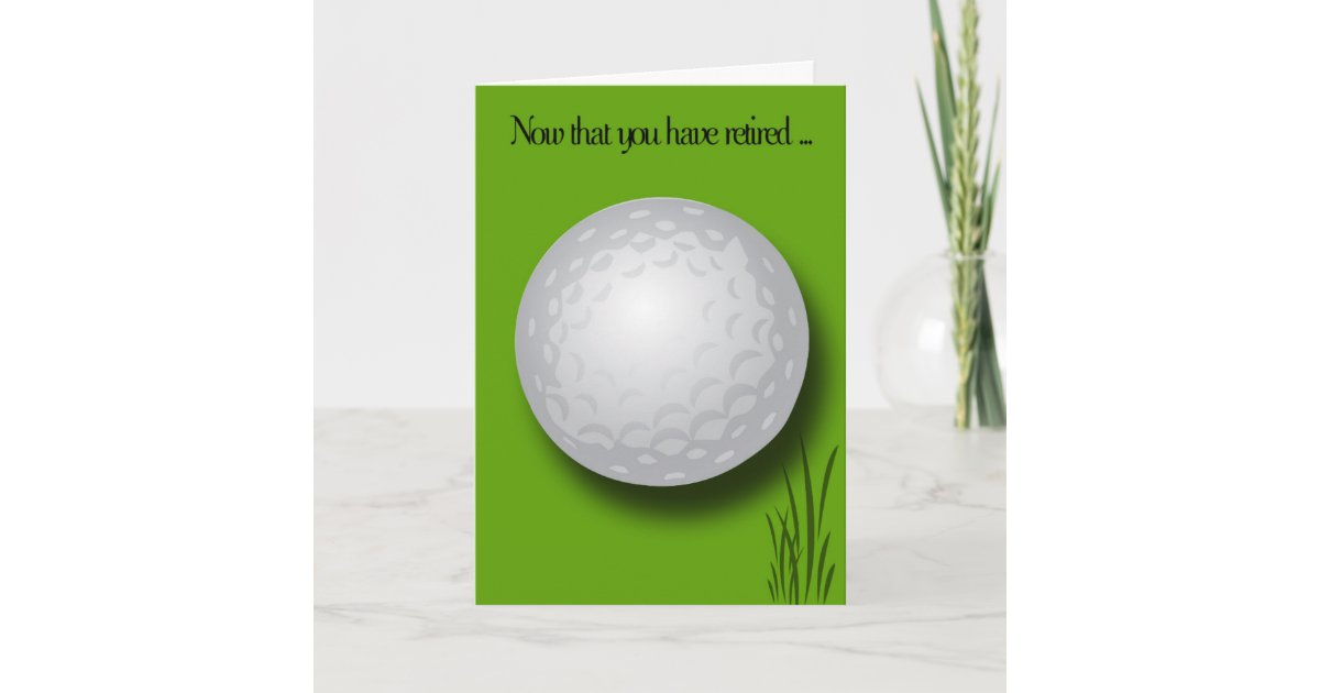 Ruhestand Glückwunsch-Golf Ball Karte | Zazzle.at