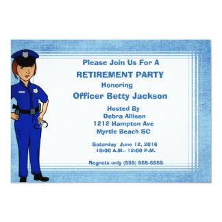 Ruhestands-Einladung Damen-Polizeibeamte 12,7 X 17,8 Cm Einladungskarte