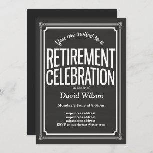 Ruhestands-Party Einladung, Tafelhintergrund Einladung