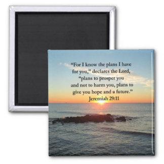 RUHIGER JEREMIAS-29:11 SONNENAUFGANG QUADRATISCHER MAGNET