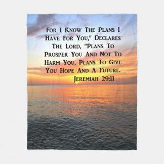 RUHIGER SONNENAUFGANG-JEREMIAS-29:11 BIBEL-VERS FLEECEDECKE