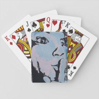 Ruhiges Poker-Gesicht Pokerkarte