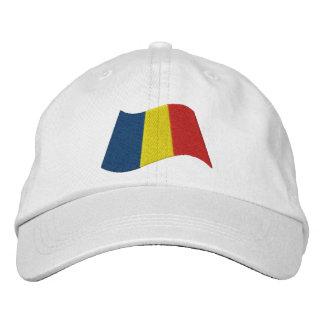 Rumänische Flagge Bestickte Kappe