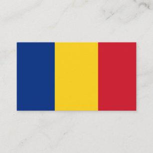 Rumänische Flagge, Flagge von Rumänien Visitenkarte