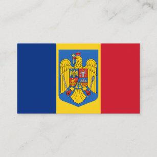 Rumänische Flagge u. Wappen, Flagge von Rumänien Visitenkarte