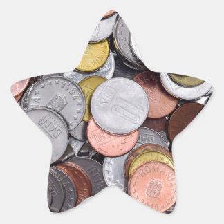 rumänische Münzen Stern-Aufkleber