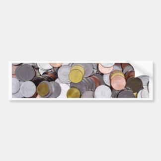 Rumänische Währungsmünzen Autoaufkleber