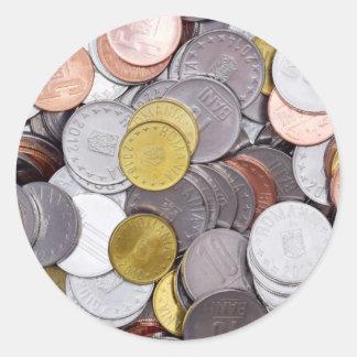 Rumänische Währungsmünzen Runder Aufkleber