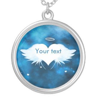 Runde hängende Halskette - Engel des Herzens