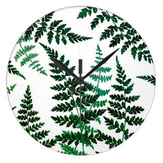 Runde Uhr der botanischen Glückswand