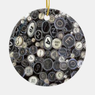 Runde Verzierung - Schreibmaschinen-Schlüssel Rundes Keramik Ornament