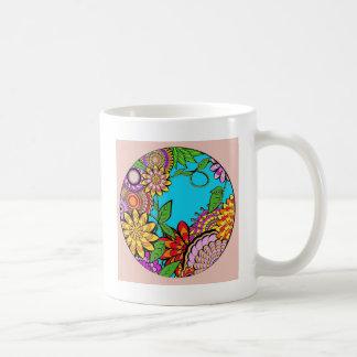 Runder Fenster-Garten Kaffeetasse