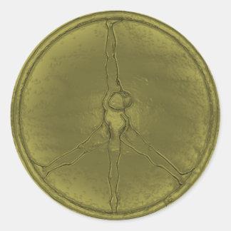 Runder Knopf der Friedensmannmoos-Münze Runder Aufkleber