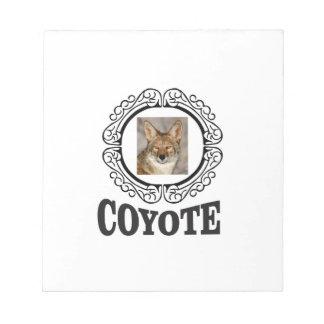 runder Kojote Notizblock