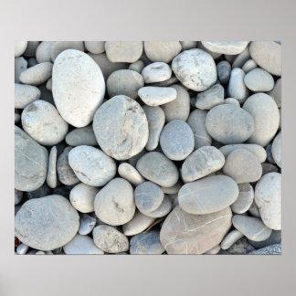 runder Steinbeschaffenheitsfelsenmineral-Naturkies Poster
