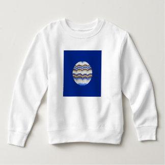 Rundes blaues Mosaik-Kleinkind-Sweatshirt Sweatshirt