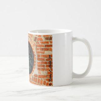 Rundes Buntglas-Fenster Kaffeetasse