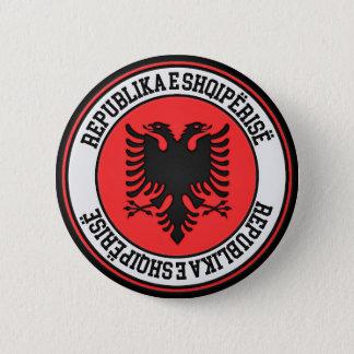 Rundes Emblem Albaniens Runder Button 5,7 Cm