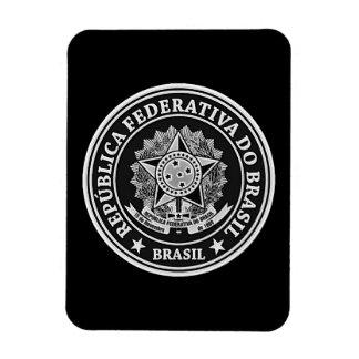 Rundes Emblem Brasiliens Magnet