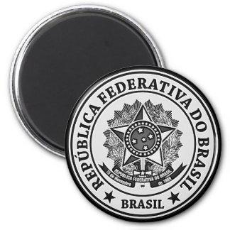 Rundes Emblem Brasiliens Runder Magnet 5,1 Cm