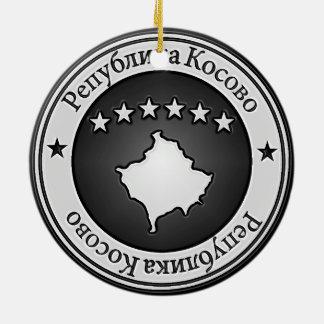 Rundes Emblem Kosovos Keramik Ornament