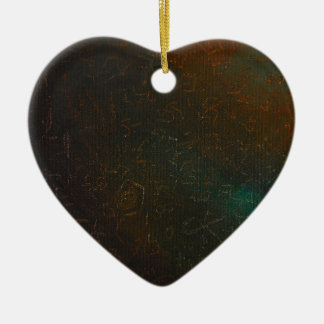 Runen Keramik Herz-Ornament