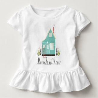 Rüsche-T-Stück des einfaches Zuhause-süßes Kleinkind T-shirt