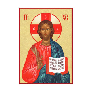 Russische orthodoxe Ikone des Jesus Christus Gespannter Galerie Druck