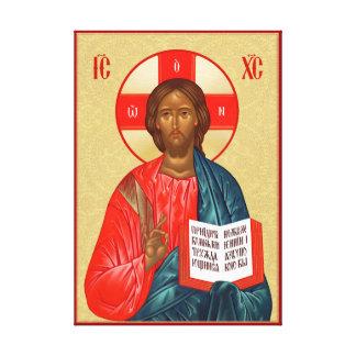 Russische orthodoxe Ikone des Jesus Christus Leinwanddruck