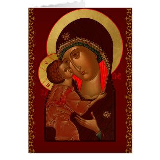 Russische orthodoxe Weihnachtsgrußkarte Grußkarte