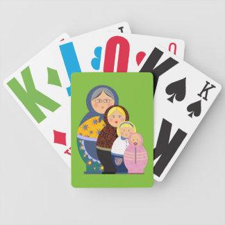 Russische Puppe Matryoshka Leben-Bühne-buntes Bicycle Spielkarten