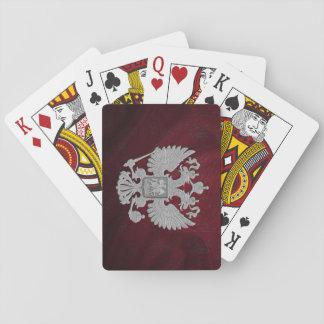 Russische Symbol-rote Fahne Pokerkarte
