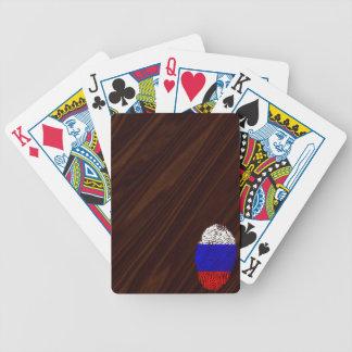 Russische Touchfingerabdruckflagge Pokerkarten