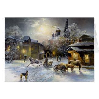 Russische Winter-Malerei-Gruß-Karte Grußkarte