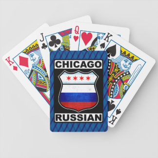 Russischer amerikanischer Kartensatz Chicagos Bicycle Spielkarten