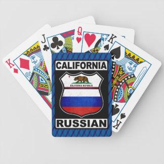Russischer amerikanischer Kartensatz Kaliforniens Bicycle Spielkarten