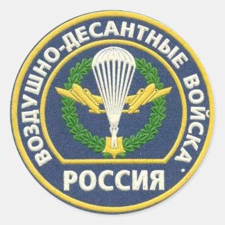 Russischer im Flugzeug Flecken Runder Aufkleber