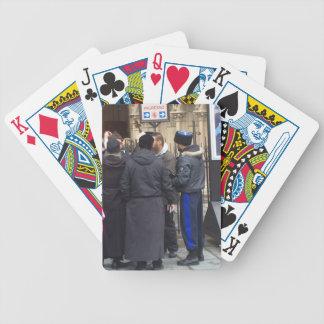 Russischer orthodoxer Priester außerhalb Paris Spielkarten