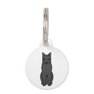 Russischer schwarze Katzen-Cartoon Tiermarke