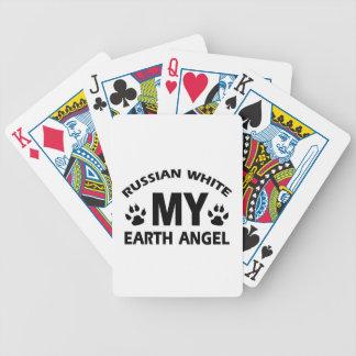 russischer weißer Katzenentwurf Spielkarten