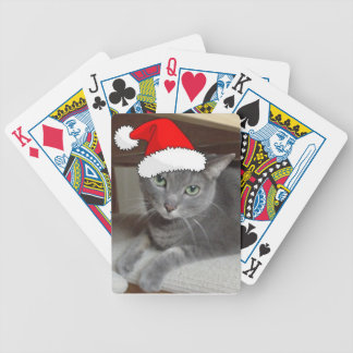 Russisches blaue Katzen-Weihnachten Spielkarten