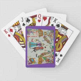 Russisches Dorf im Winter Spielkarten