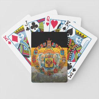 Russisches Reich-Flagge Pokerkarten