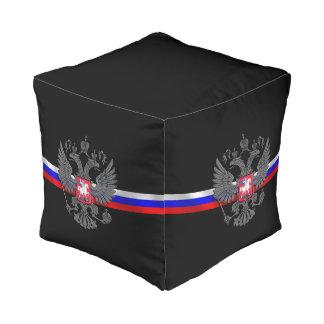 Russisches Wappen Kubus Sitzpuff
