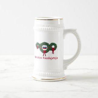 Russland-Weihnachten 2 Bierglas